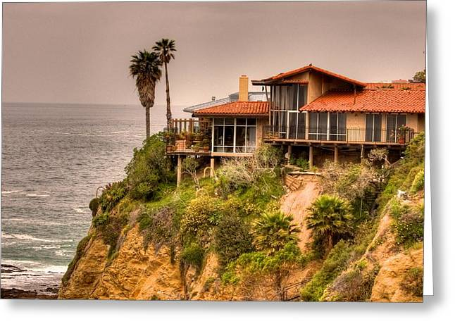 House On Crescent Bay Greeting Card by Itay Dollinger