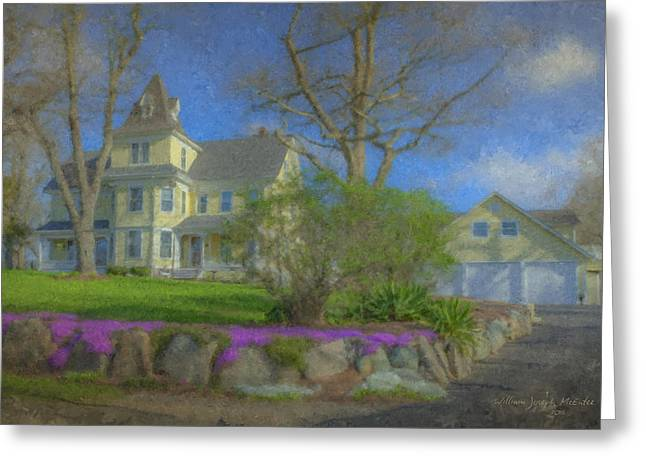 House On Elm St., Easton, Ma Greeting Card