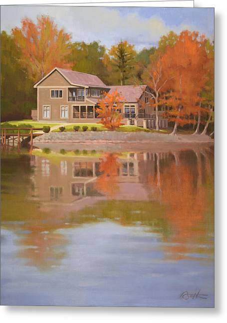 House On Gauguin Greeting Card by Todd Baxter