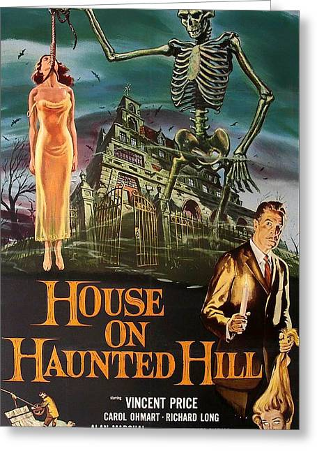 House On Haunted Hill 1958 Greeting Card