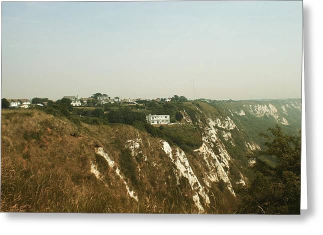 House On The Cliffs, Folkestone, Kent, England Greeting Card