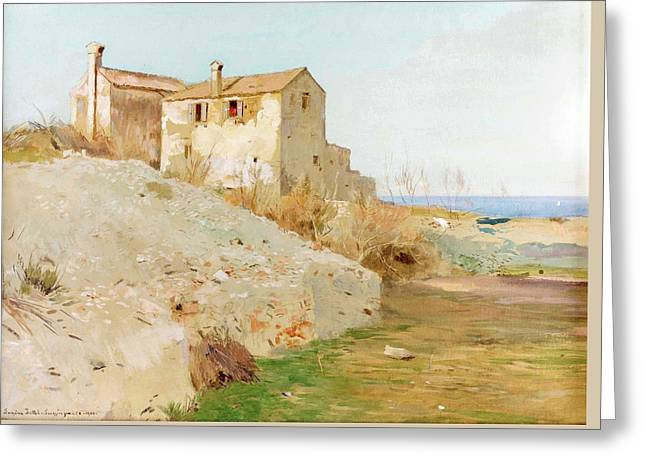 House On The Coast Greeting Card