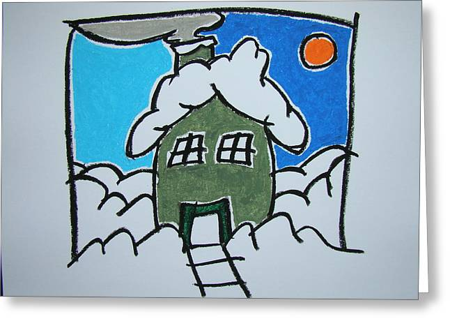 House On The Edge Of Town Greeting Card by Pat  Lackenbauer