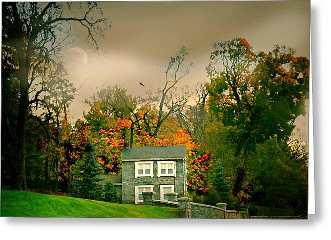 House On The Hill Greeting Card by Diana Angstadt