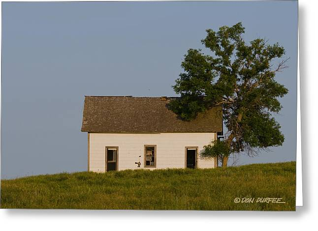 Greeting Card featuring the photograph House On The Hill by Don Durfee