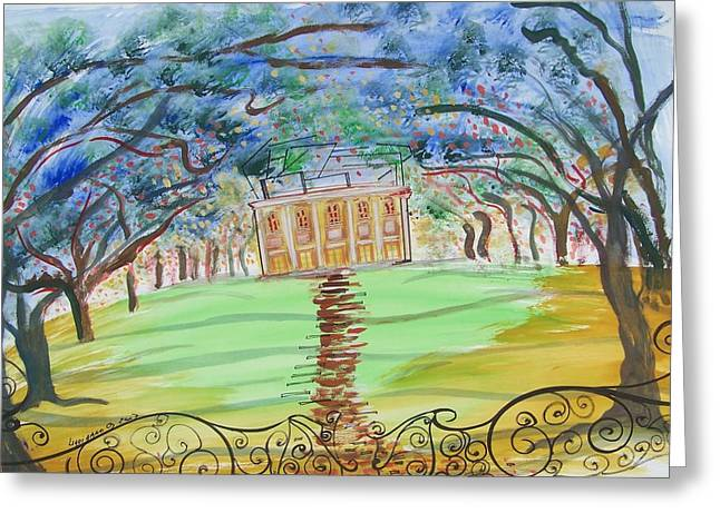 House On The Hill Greeting Card by Geraldine Liquidano