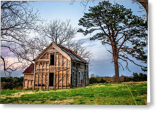 House On The Hill Greeting Card by Gregory Ballos