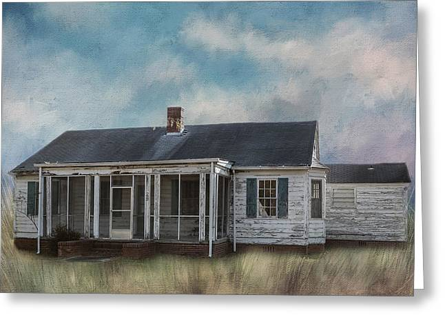 Greeting Card featuring the photograph House On The Hill by Kim Hojnacki