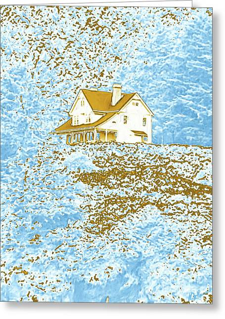 House On The Hill Greeting Card by Methune Hively