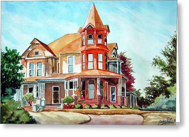 House On The Hill Greeting Card