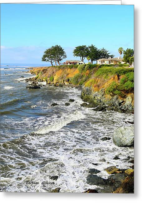 Greeting Card featuring the photograph House On The Point Cayucos California by Barbara Snyder