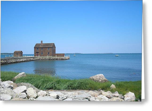 House On The Point Greeting Card by Valerie Bruno
