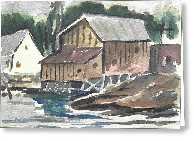House On The River Greeting Card