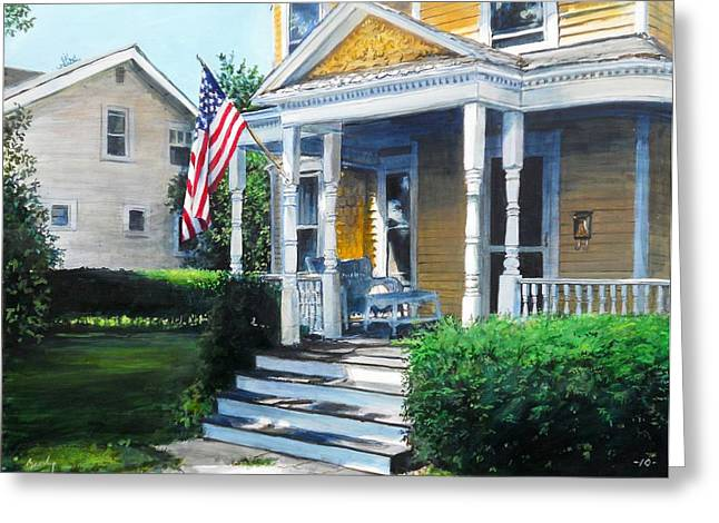 House On Washington Street Greeting Card