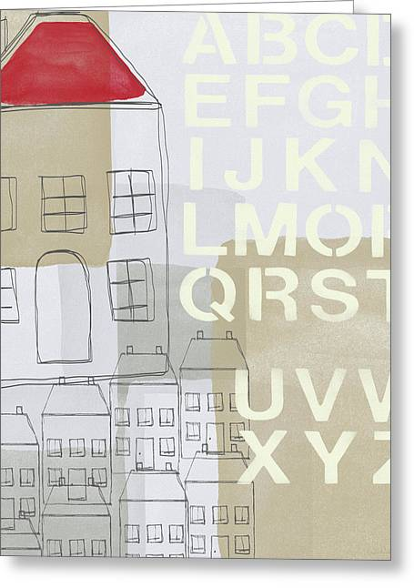 House Plans 2- Art By Linda Woods Greeting Card