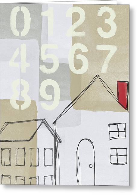House Plans 3- Art By Linda Woods Greeting Card by Linda Woods