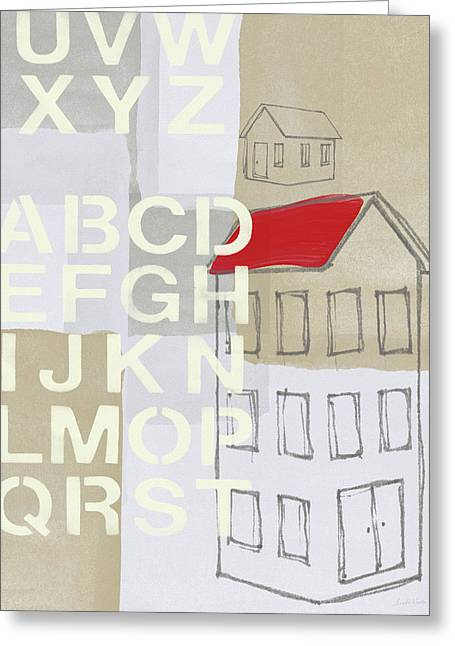 House Plans- Art By Linda Woods Greeting Card by Linda Woods