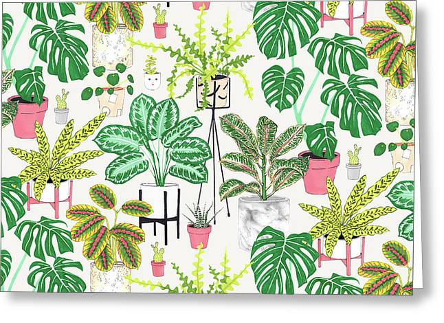 House Plants Greeting Card