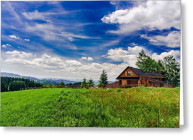 Greeting Card featuring the photograph House With The View by Dmytro Korol