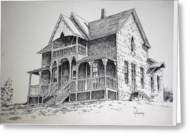 House Virginia City Montana Greeting Card by Kevin Heaney