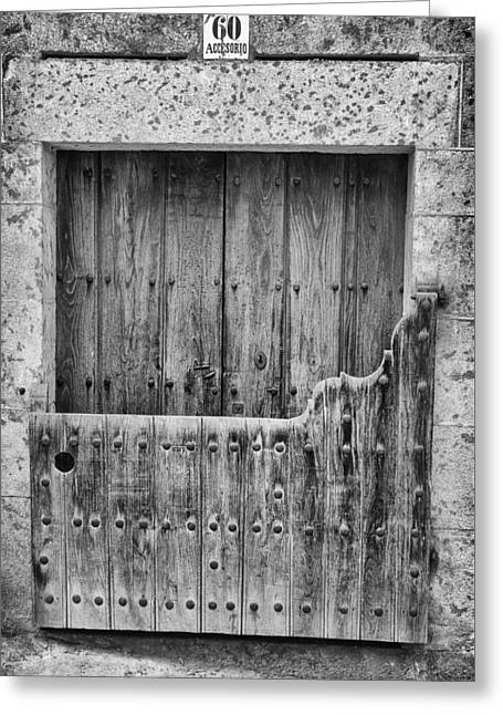 House With Batipuerta In Candelario. Greeting Card