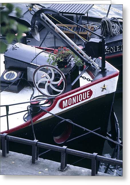 Houseboat In France Greeting Card