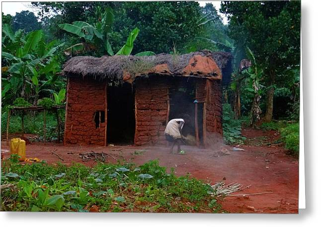 Housecleaning Africa Style Greeting Card by Exploramum Exploramum