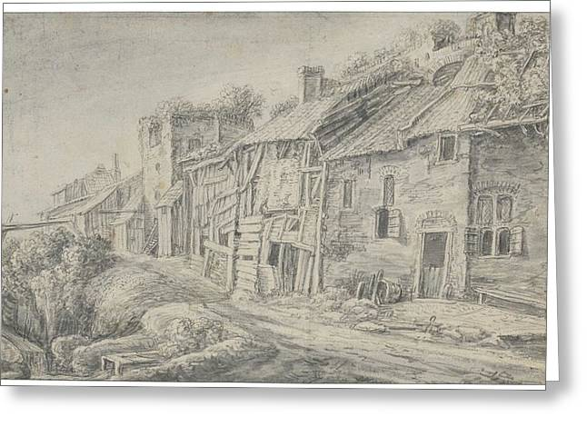 Houses Along The Fortified Walls Greeting Card