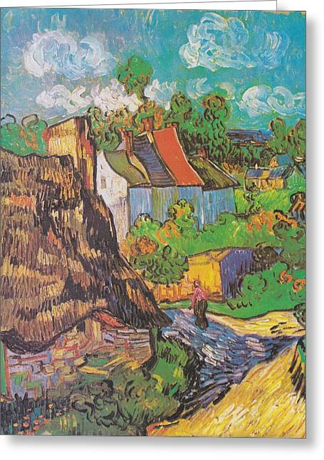 Houses At Auvers Greeting Card by Vincent Van Gogh