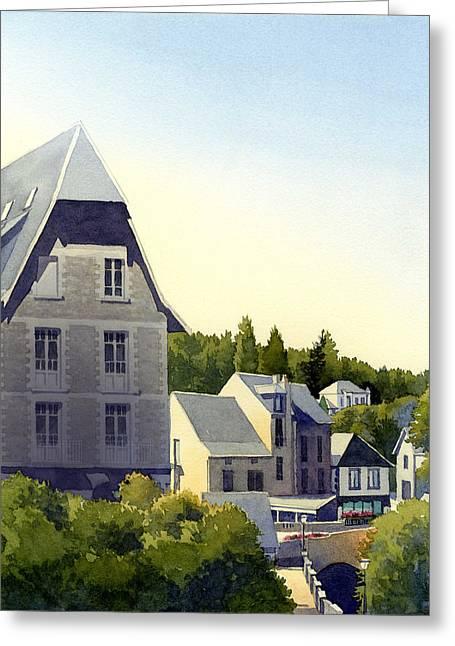 Houses At Murol Greeting Card