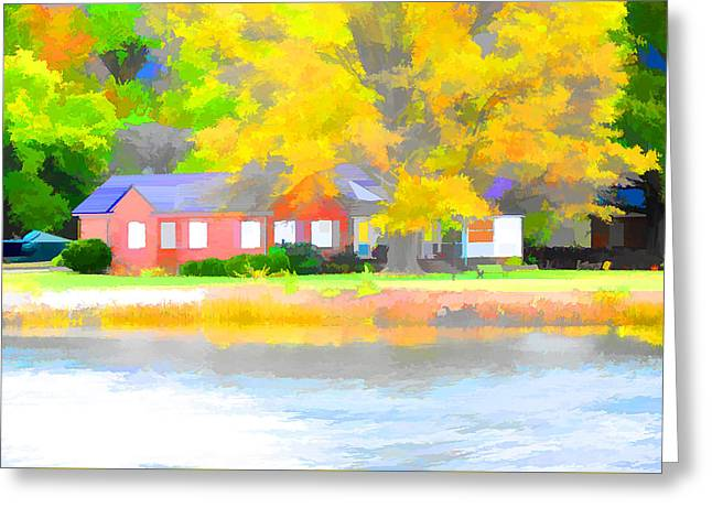 Houses By The Lake  2 Greeting Card