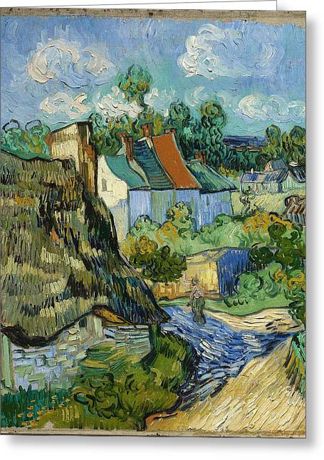 Greeting Card featuring the painting Houses In Auvers by Van Gogh