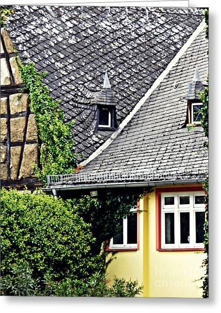 Houses In Eltville 9 Greeting Card
