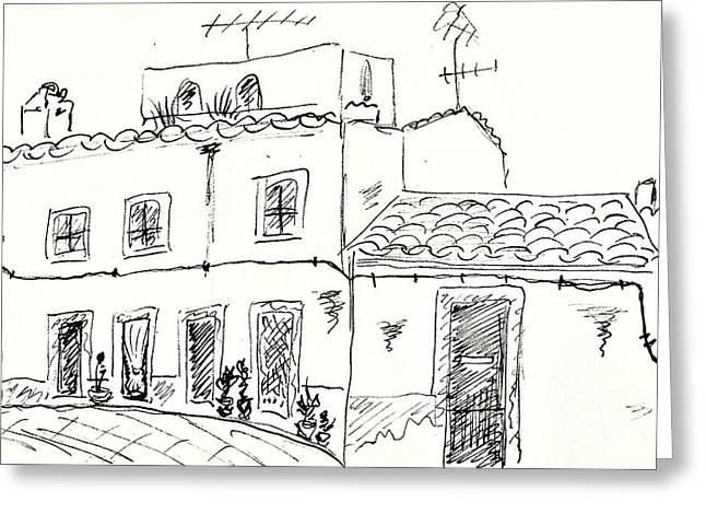 Houses In Elvas Greeting Card