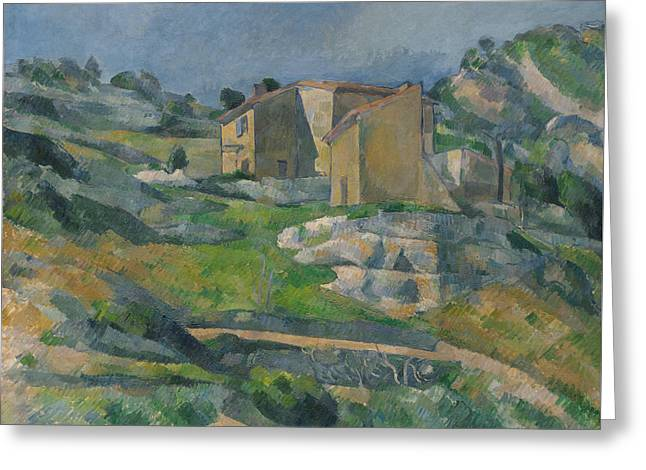 Houses In Provence The Riaux Valley Near L Estaque 1883 Greeting Card by Paul Cezanne