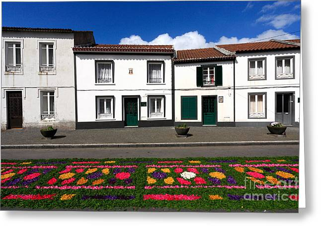 Houses In The Azores Greeting Card by Gaspar Avila