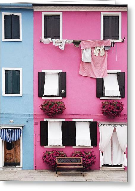 Houses Of Burano 7 Greeting Card by Happy Home Artistry