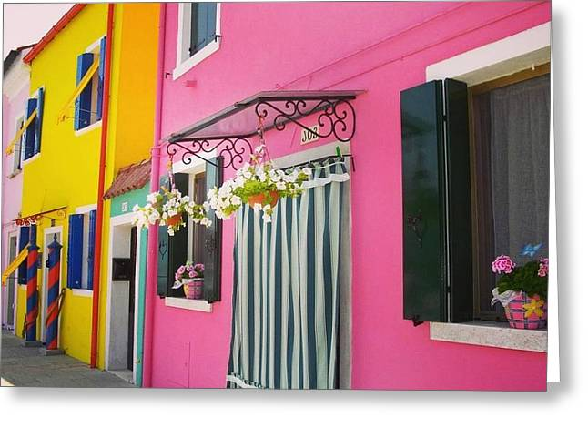 Houses Of Burano 8 Greeting Card by Happy Home Artistry