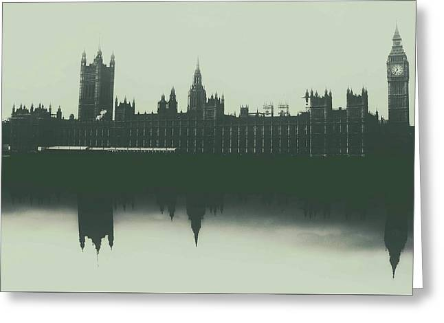 Houses Of Parliament Greeting Card by Martin Newman