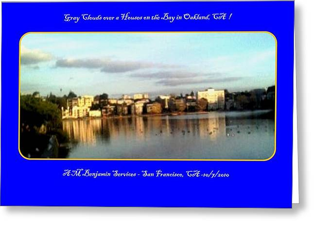 Houses On The Bay Greeting Card by Anthony Benjamin