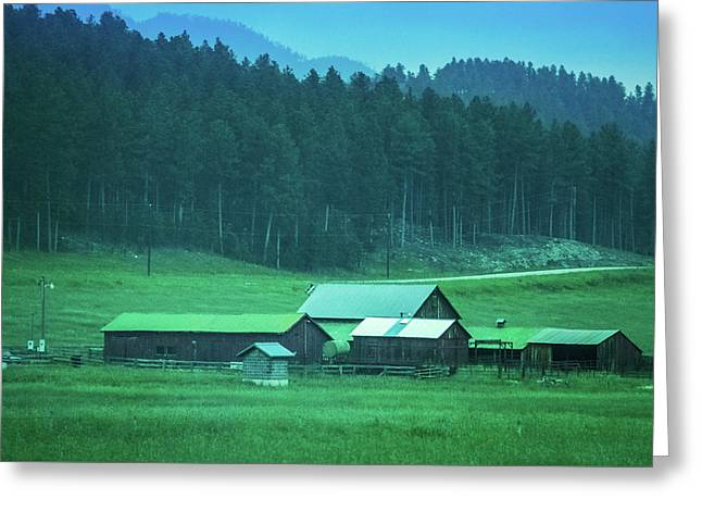 Houses On The Hill, South Dakota Greeting Card