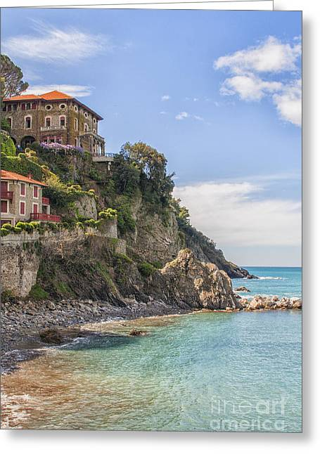 Houses On The Rocks Greeting Card by Patricia Hofmeester