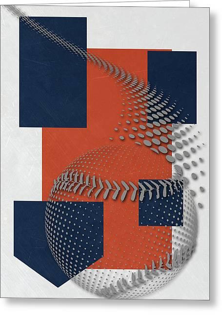Houston Astros Art Greeting Card