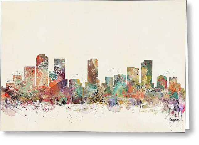 Houston City Greeting Card