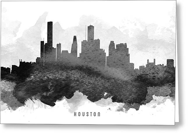 Houston Cityscape 11 Greeting Card by Aged Pixel