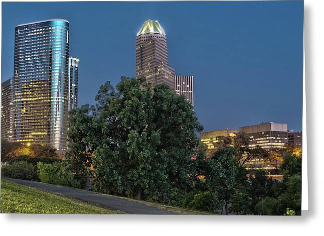 Houston Cityscape2 Greeting Card