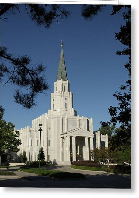 Houston Lds Temple Greeting Card