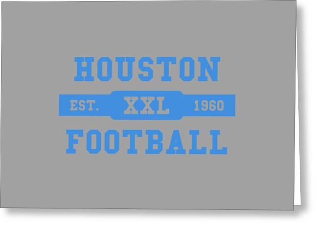 Houston Oilers Retro Shirt Greeting Card by Joe Hamilton