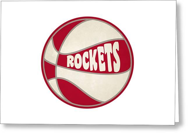 Houston Rockets Retro Shirt Greeting Card by Joe Hamilton