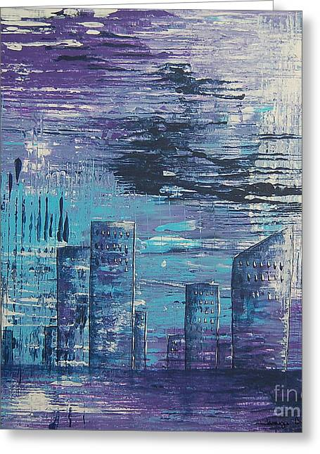 Houston Skyline 2 Greeting Card